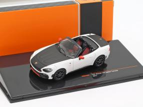 Fiat Abarth 124 Spider Turismo year 2017 white / black 1:43 Ixo