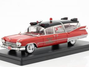 Cadillac Superior Ambulance year 1959 red / black 1:43 Neo