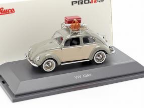 Volkswagen VW Beetle Ovali picnic grey / beige 1:43 Schuco