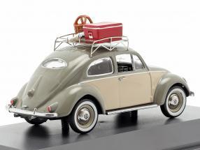 """grau-beige Schuco 450258500 VW Käfer Ovali """"Picknick"""""""