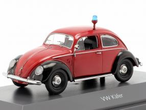 Volkswagen VW Beetle Ovali Fire Department red / black 1:43 Schuco