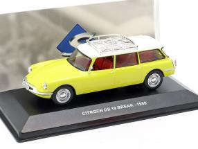 Citroen DS19 Break year 1960 yellow / white 1:43 Solido