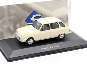 Renault 6 year 1970 cream white 1:43 Solido
