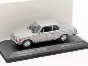 Mercedes-Benz 280 CE (W123) year 1976 astral silver metallic 1:43 Minichamps