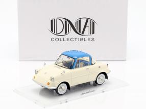 Mazda R360 Baujahr 1960 creme weiß / blau 1:18 DNA Collectibles