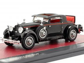 Stutz Model M Supercharged Lancefield Coupe Open year 1930 black 1:43 Matrix