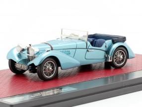 Bugatti T57 Roadster Vanden Plas Open year 1938 blue metallic 1:43 Matrix