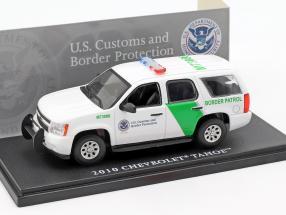 Chevrolet Tahoe Border Patrol year 2010 white / green 1:43 Greenlight