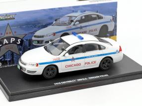 Chevrolet Impala Chicago Police year 2010 white 1:43 Greenlight