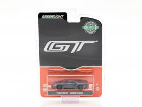 Ford GT year 2019 carbon Series gray / black / orange 1:64 Greenlight