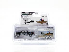 Chevrolet Silverado and Concession trailer IndyCarSeries black / silver 1:64 Greenlight