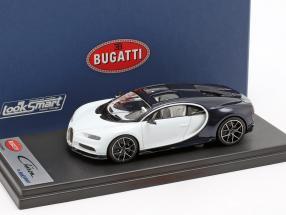 Bugatti Chiron Skyview white / dark blue metallic 1:43 LookSmart