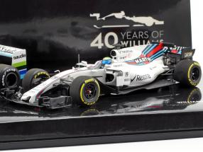 2-Car Set Williams F1 40th Anniversary A. Jones 1978 and F. Massa 2017 1:43 Minichamps