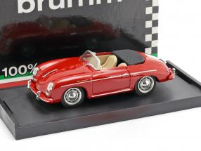 Porsche 356 Speedster year 1952 red with beige inner space 1:43 Brumm