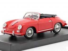 Porsche 356 Cabriolet year 1952 red with black inner space 1:43 Brumm