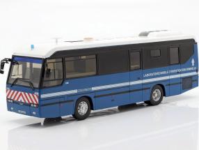 Lohr L96 IRCGN Polizeibus Frankreich Baujahr 1996 blau 1:43 Altaya