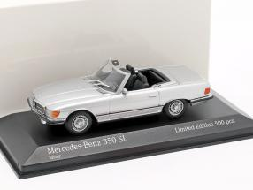Mercedes-Benz 350 SL year 1974 silver metallic 1:43 Minichamps