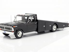 Ford F350 Ramp Truck year 1970 black 1:18 GMP