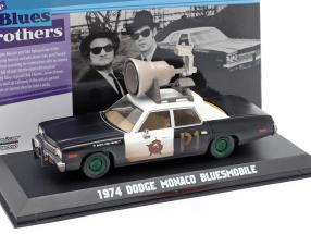 Dodge Monaco Bluesmobile Blues Brothers 1980 black / white / green 1:43 Greenlight