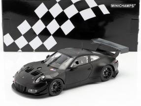 Porsche 911 (991) GT3 R Plain Body Version year 2018 mat black 1:18 Minichamps