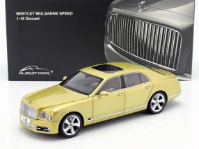 Bentley Mulsanne Speed year 2017 monaco yellow 1:18 Almost Real
