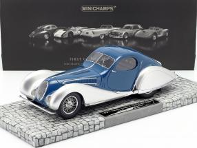 Talbot Lago T 150-C-SS Coupe Year 1937 blue / silver 1:18 Minichamps