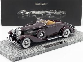 Düsenberg SJN Convertible Coupe Year 1936 dark red 1:18 Minichamps