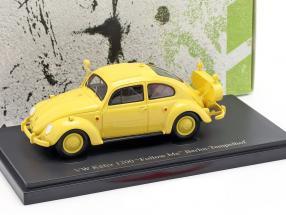 Volkswagen VW Käfer Follow Me Berlin-Tempelhof year 1954 yellow 1:43 AutoCult