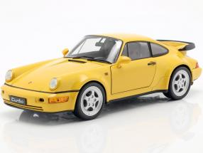 Porsche 964 Turbo yellow 1:18 Welly