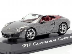 Porsche 911 (991) Carrera 4 Cabriolet Grey metallic 1:43 Herpa