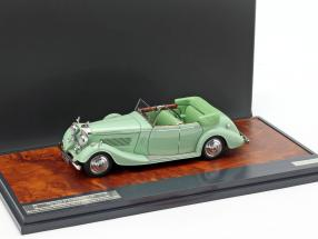 Bentley 4 1/2 Litre All-Weather Tourer year 1937 mint green 1:43 Matrix