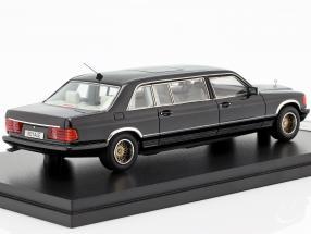 Mercedes-Benz W126 SGS Royal LWB Year 1985 black 1:43 GLM