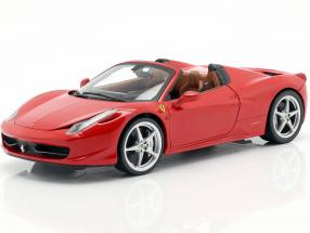 Ferrari 458 Italia Spider Year 2011 red 1:18 HotWheels Foundation