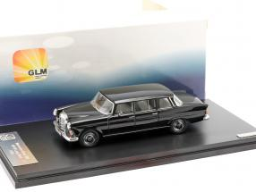 Mercedes-Benz 200 W110 Binz Limousine Year 1965 black 1:43 GLM