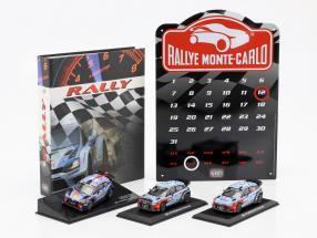 3-Car Rallye Set Hyundai i20 WRC with additional accessories 1:43 Ixo