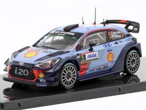 Hyundai i20 Coupe WRC #5 Winner Rallye Tour de Corse 2017 Neuville, Gilsoul 1:43 Ixo