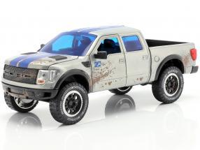 Ford F-150 SVT Raptor built in 2011 silvergrey / blue 1:24 Jada Toys