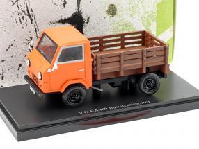 Volkswagen VW EA1489 basic Transportation Year 1973 orange 1:43 AutoCult