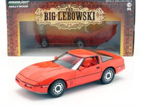 Larry Sellers' Chevrolet Corvette C4 year 1985 Movie The Big Lebowski (1998) red 1:18 Greenlight