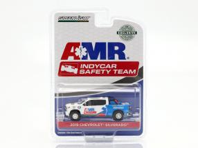 Chevrolet Silverado AMR Safety Team Indycar Series 2019 white / blue 1:64 Greenlight