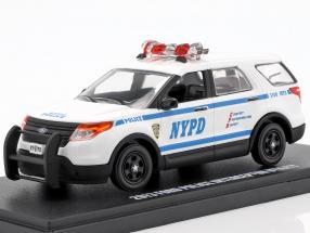 Ford Police Interceptor Utility NYPD year 2013 white / blue 1:43 Greenlight