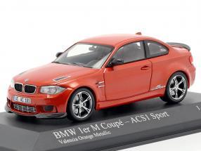 BMW 1er M Coupe ACS1 Sport Year 2011 orange metallic 1:43 Minichamps