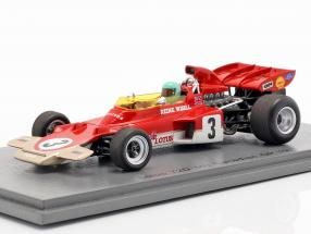 Reine Wisell Lotus 72D #3 5th Canadian GP formula 1 1971 1:43 Spark