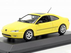 Peugeot 406 Coupe year 1997 yellow 1:43 Minichamps