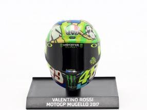 Valentino Rossi MotoGP Mugello 2017 AGV helmet 1:10 Minichamps