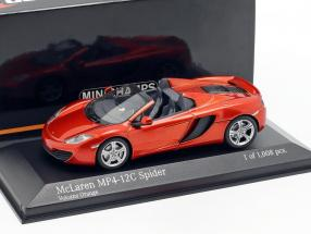 McLaren MP4-12C Spider Baujahr 2012 vulkan orange metallic 1:43 Minichamps