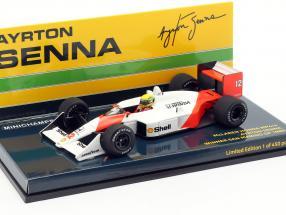 A. Senna McLaren MP4/4 #12 San Marino GP World Champion F1 1988 1:43 Minichamps