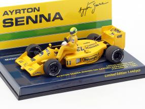 A. Senna riding on S. Nakajimas Lotus 99T #11 italian GP F1 1987 1:43 Minichamps