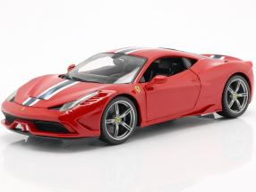 Ferrari 458 Speciale red / White / blue 1:18 Bburago