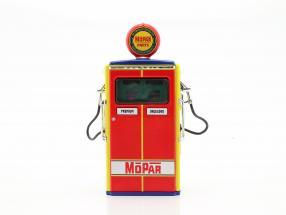 gas pump Mopar Parts red / yellow / blue / green 1:18 Greenlight